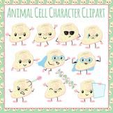 Animal Cells Character Emotions Clip Art Pack for Commercial Use