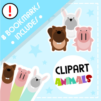 Back to School: Clips Clipart - Flat Design (+ Bookmarks)
