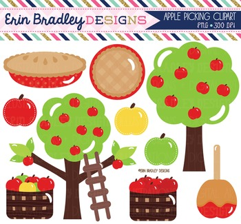 Clipart - Apple Picking