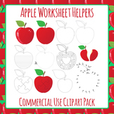 Apple Worksheet Helpers Clip Art Pack for Commercial Use