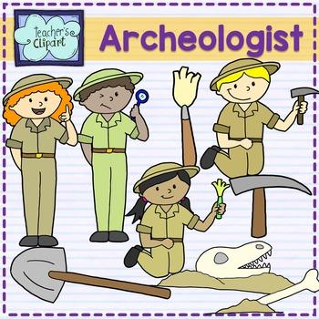 Archaeologist kids clipart {Social Studies clip art}