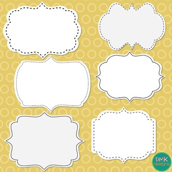 Clipart- Arrows and Frames- Black and White