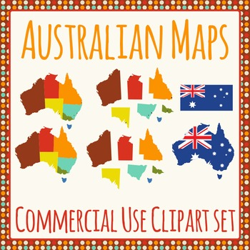 Australian Maps of States & Territories Pack for Commercial Use
