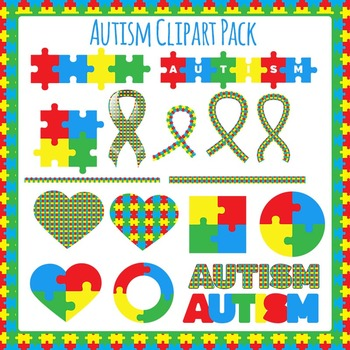 Autism Awareness Clip Art Pack for Commercial Use