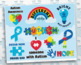 Clipart - Autism Awareness Sticker Art (SVG file included)