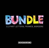 Clipart BUNDLE (Alphabet, Frames, & Borders)
