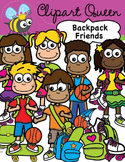 Clipart: Backpack Kids