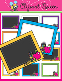 Clipart: Back to School Chalkboard Borders