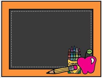Clipart: Back to School Chalkboard Borders