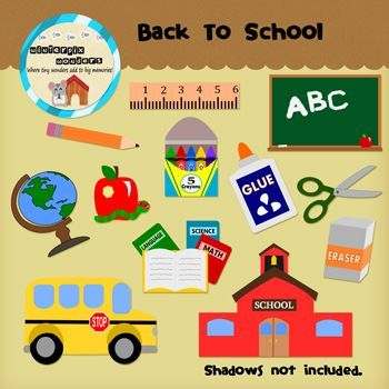 Clipart: Back to School - Elementary - Pre-k - Kindergarten