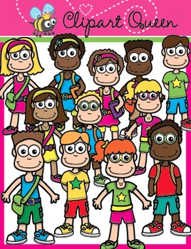 Clipart: Back to School Kids
