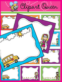 Clipart: Back to School Fun Borders