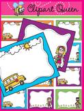 Clipart: Back to School Fun Borders