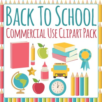 Back to School Clip Art Pack for Commercial Use