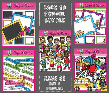 Clipart: Back to School Super Bundle
