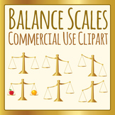 Balance Scales Clipart for Commercial Use