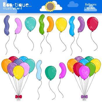 Clipart- Balloons Clip Art. Balloons Clipart. Blue Birthday Clip Art. Clipart