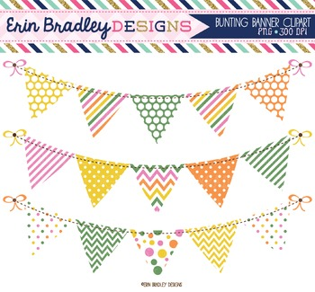Clipart - Banner Flags Bunting