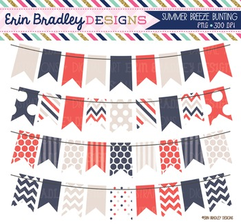 Clipart - Banner Flags Bunting Summer Breeze