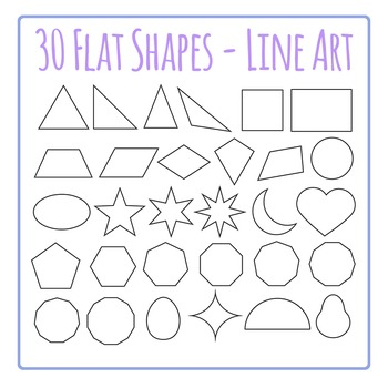 Shapes Clip Art for Commercial Use