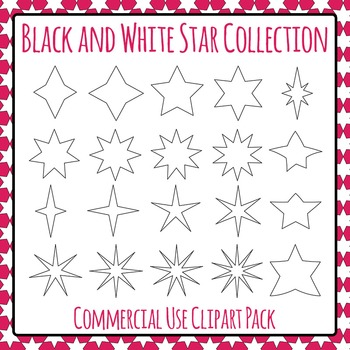 Stars Collection Clip Art Pack for Commercial Use