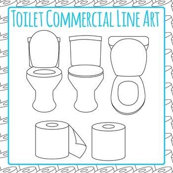Toilet Clip Art Pack for Commercial Use