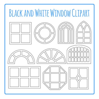 Windows Clip Art Pack Black and White for Commercial Use