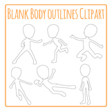 Blank Body Outlines Clip Art Pack for Commercial Use