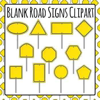 Blank Road Signs Clip Art Pack for Commercial Use