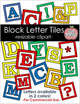 Clipart Block Letters