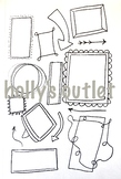 Clipart Boarders Frames Boxes Worksheet Coloring Page