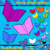 Butterfly Books Clip Art for Teachers