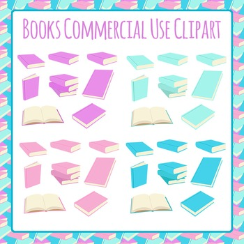 Books Open and Closed Clip Art Pack for Commercial Use