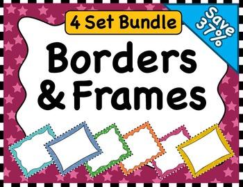 Clipart: Borders & Frames BUNDLE (Sets 1-4)