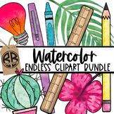 Watercolor Clipart GROWING BUNDLE Sellers Kit
