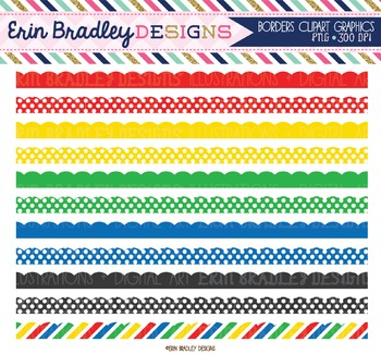 Clipart Borders - Red Yellow Green Blue