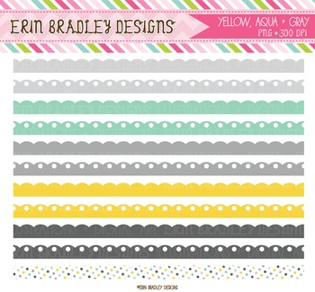 Clipart Borders - Scalloped Frame Graphics