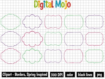 Clipart – Borders, Spring Inspired