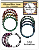 Clipart Borders - Whimsical Circle Borders - Rainbow Borders