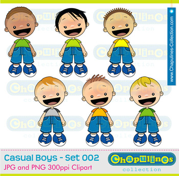 Clipart Boys Jeans, school clipart, kids clipart, boys illustrations 002