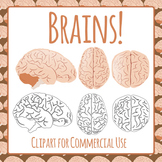 Brains Clip Art Pack for Commercial Use