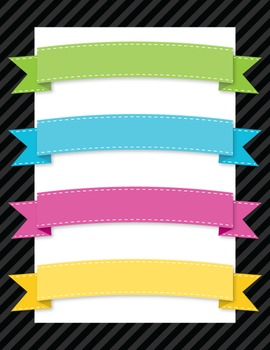 Clipart: Bright Banners Clip Art for TPT Cover Designs and Products