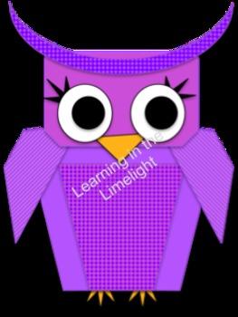 Clipart: Bright Owls