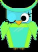 Clipart: Bright Winking Owls