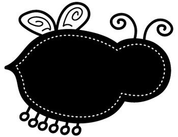 Clipart: Bug Chalkboard Borders
