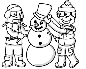Clipart: Winter Kids