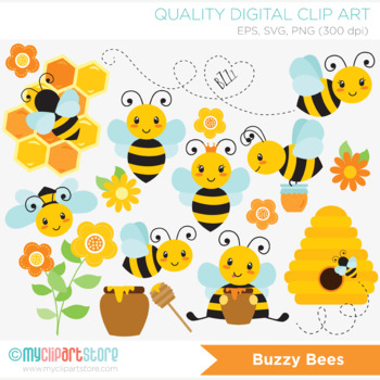Clipart - Bumble Bees / Honey Bee