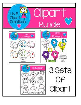 Clipart Bundle - 3 Cute Sets