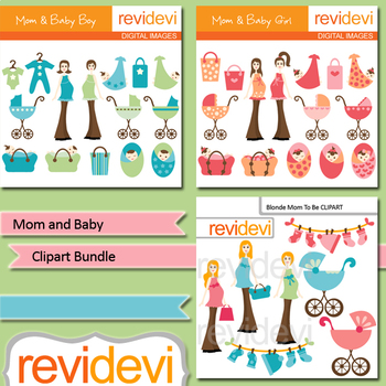 Clipart Bundle Baby Shower / Mom and Baby / Pregnancy