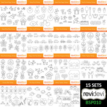 Clipart Bundle Black and White (collection 10) - Teacher Resource